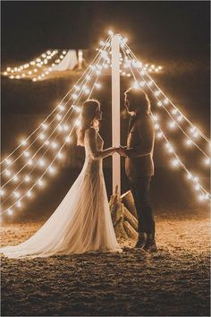 Night teepee wedding ceremony ideas