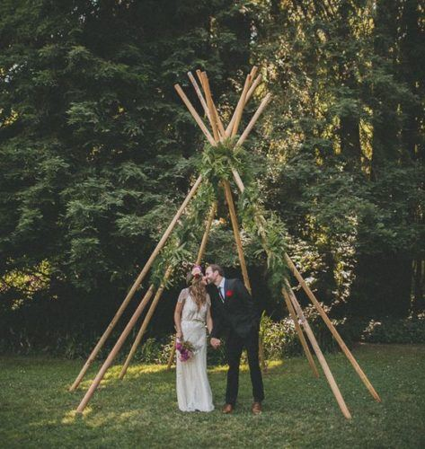 Teepee Ceremony Arch Ideas