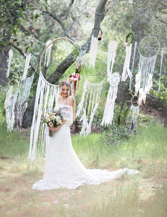 Macrame Arch wedding ceremony ideas