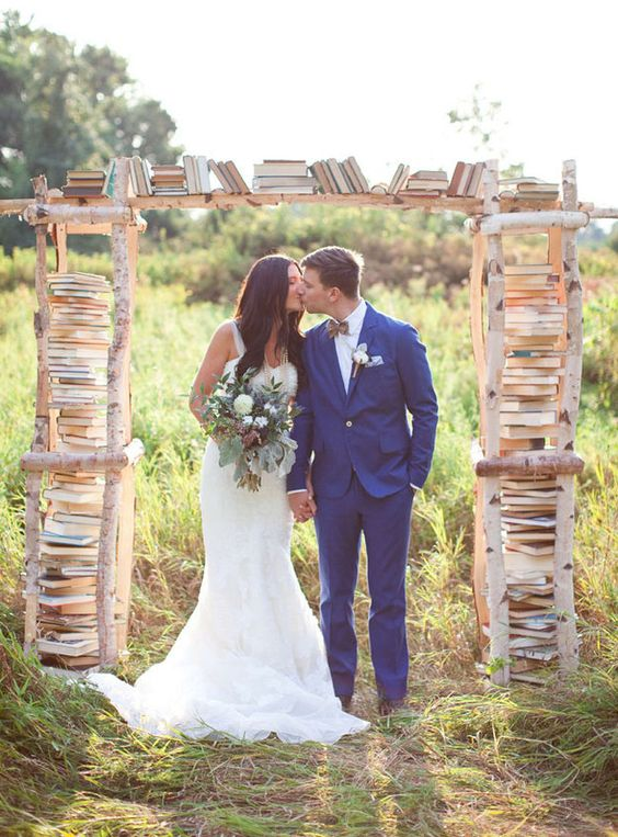 Book themed ceremony arch ideas