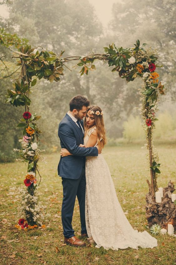 Floral ceremony arch ideas