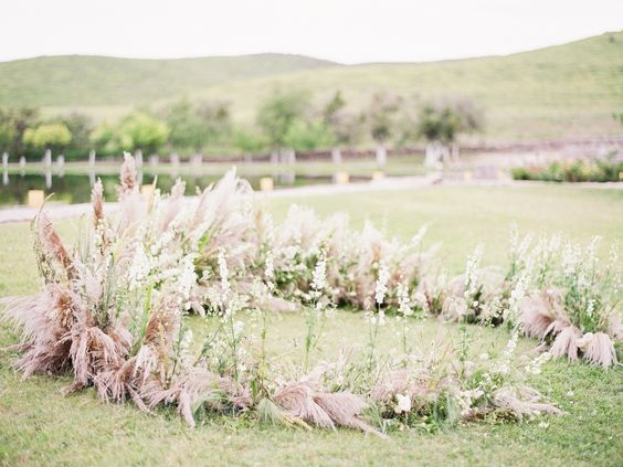 Ground floral ceremony ideas
