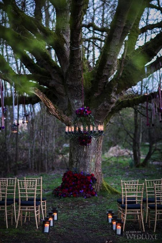 Hanging wedding ceremony ideas unique