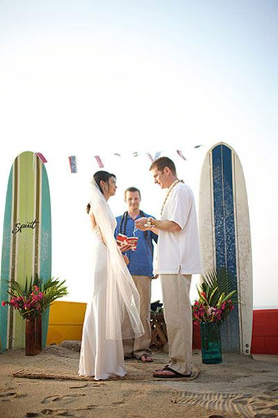 Surf Board Ceremony arch idea