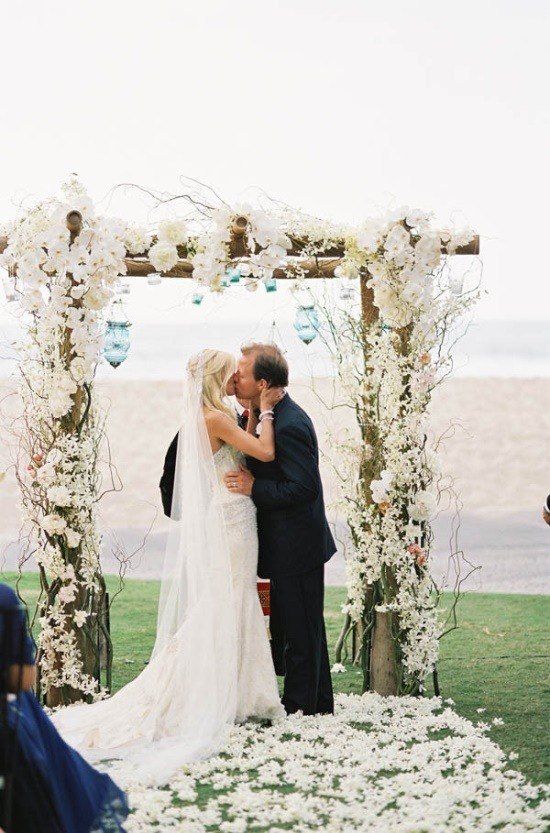 Unique wedding ceremony arches