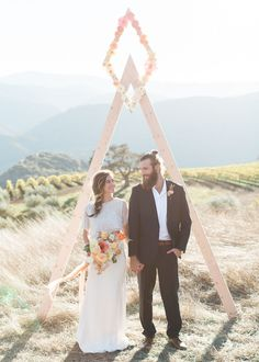 Mid Century ceremony arch ideas