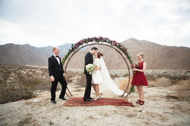 Circular wedding ceremony arch